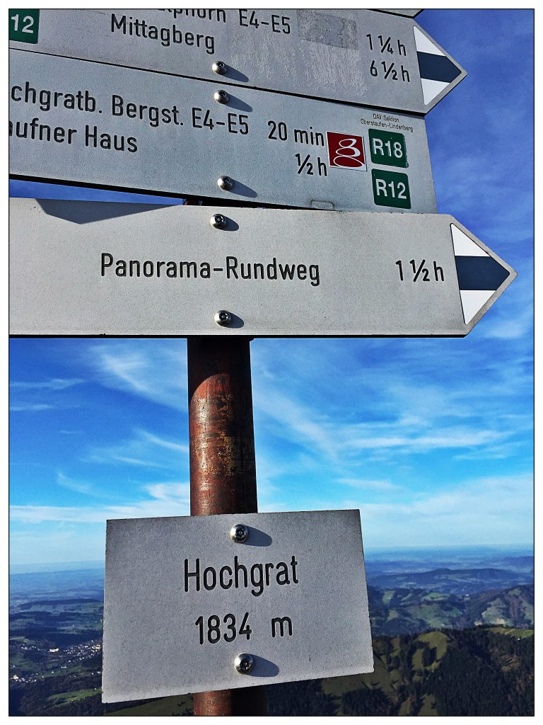Gipfelstürmerin auf 1.834 Metern