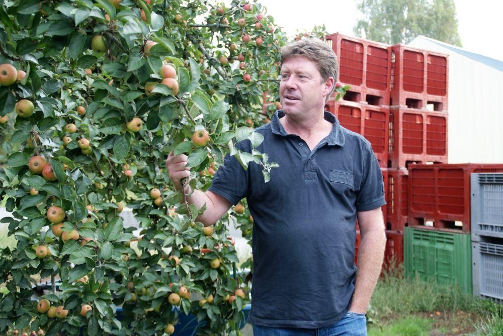 Früher baute Gilles Holzboote. Heute ist er stolzer Besitzer einer Apfelplantage und Cidre-Produktion.